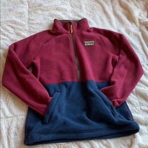 NWOT L.L. Bean Mountain Classic Fleece Pullover